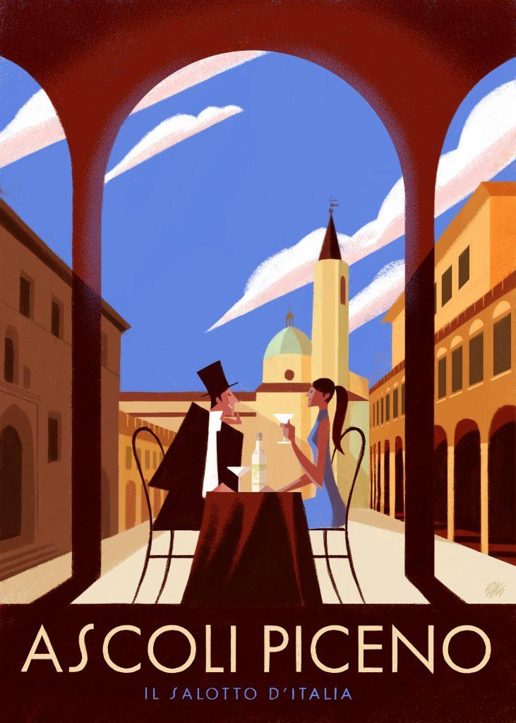 Enjoy drinks in the gorgeous Piazza del Popolo in Ascoli Piceno